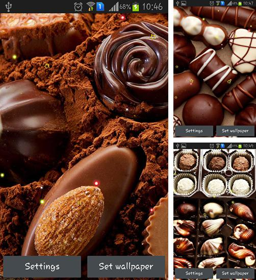 In addition to live wallpaper Romantic hearts for Android phones and tablets, you can also download Hot chocolate for free.