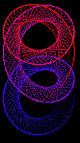Screenshots of the Hypnotizing patterns for Android tablet, phone.