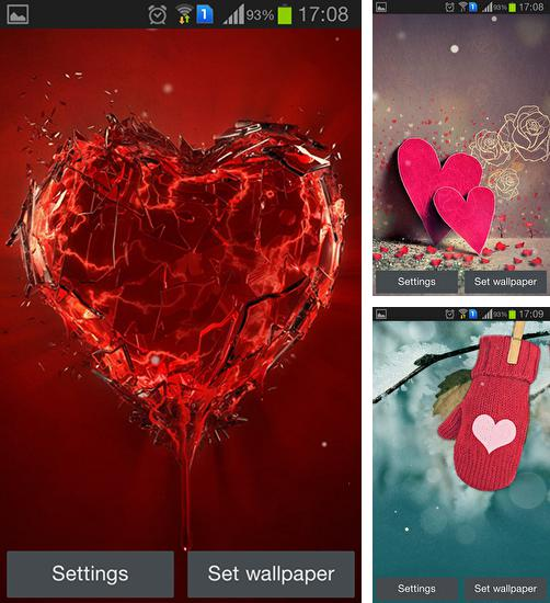 In addition to live wallpaper Diwali night for Android phones and tablets, you can also download I love you for free.