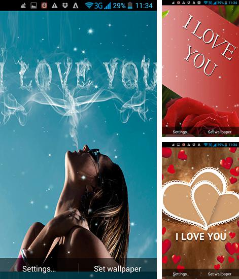 Download live wallpaper I love you by Live Wallpapers Ultra for Android. Get full version of Android apk livewallpaper I love you by Live Wallpapers Ultra for tablet and phone.
