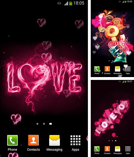 In addition to live wallpaper Flowers by OOMGLIVE for Android phones and tablets, you can also download I love you by Lux live wallpapers for free.