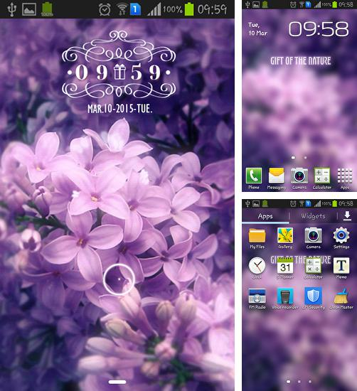 In addition to live wallpaper Papersea for Android phones and tablets, you can also download Inflorescence for free.