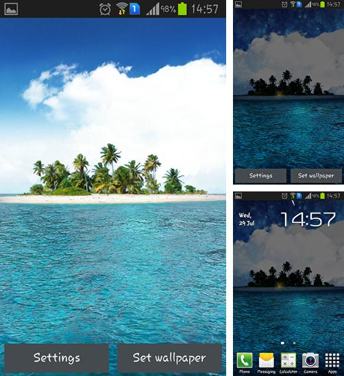 In addition to live wallpaper Romantic hearts for Android phones and tablets, you can also download Island HD for free.