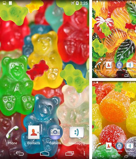 In addition to live wallpaper Royal frog for Android phones and tablets, you can also download Jelly and candy for free.