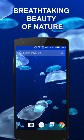 Kostenloses Android-Live Wallpaper Quallen. Vollversion der Android-apk-App Jellyfishes für Tablets und Telefone.