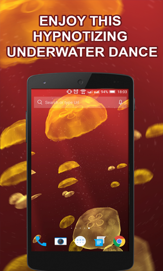 Jellyfishes für Android spielen. Live Wallpaper Quallen kostenloser Download.