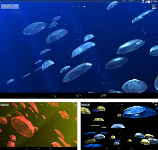 In addition to live wallpaper Fluffy Sushi for Android phones and tablets, you can also download Jellyfishes 3D for free.
