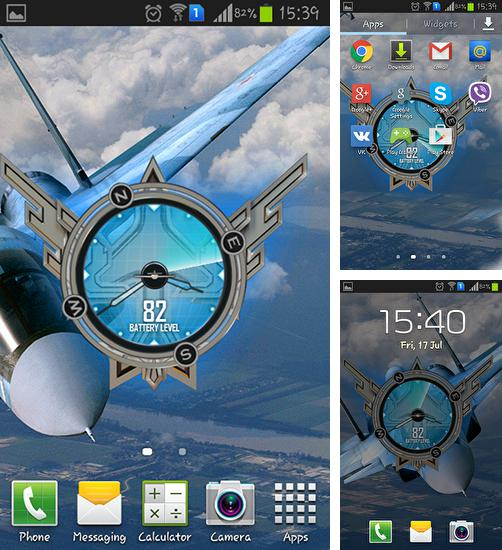 In addition to live wallpaper Christmas night for Android phones and tablets, you can also download Jet fighters SU34 for free.
