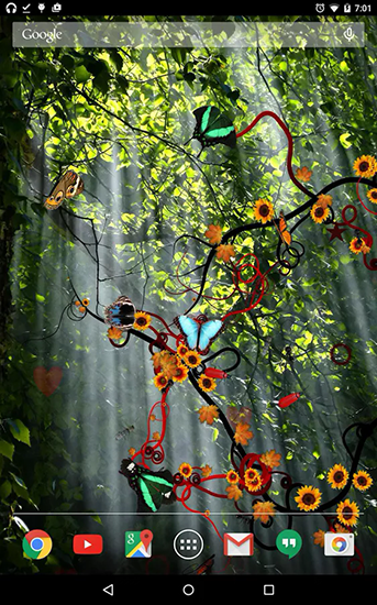 Screenshots of the Jungle of flowers for Android tablet, phone.