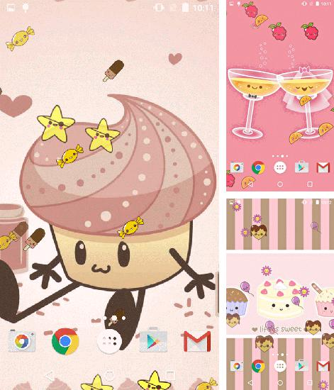 In addition to live wallpaper X-men for Android phones and tablets, you can also download Kawaii for free.