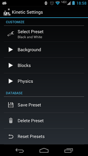 Screenshots of the Kinetic for Android tablet, phone.