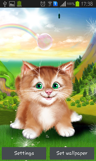 Download Kitten - livewallpaper for Android. Kitten apk - free download.