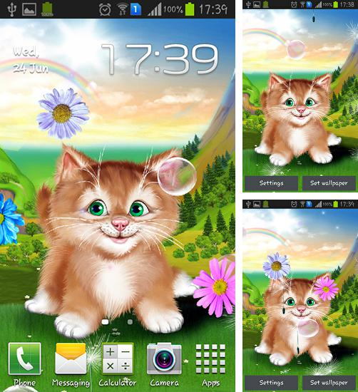 In addition to live wallpaper Water by Live mongoose for Android phones and tablets, you can also download Kitten for free.