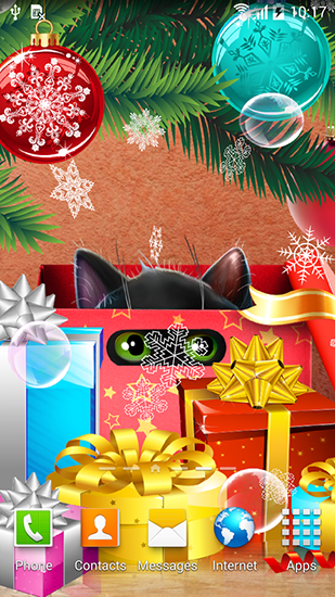 Download Kitten on Christmas - livewallpaper for Android. Kitten on Christmas apk - free download.