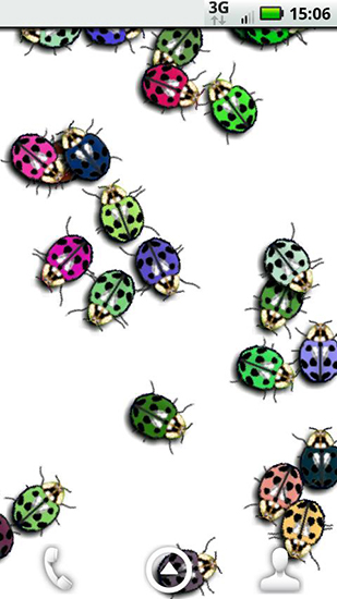 Screenshots of the Ladybugs for Android tablet, phone.