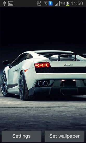 Screenshots of the Lamborghini for Android tablet, phone.
