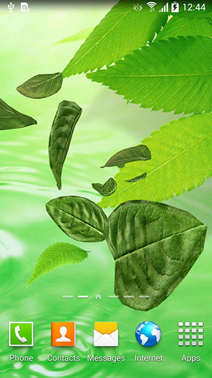 Leaves 3D live wallpaper for Android  Leaves 3D free download for