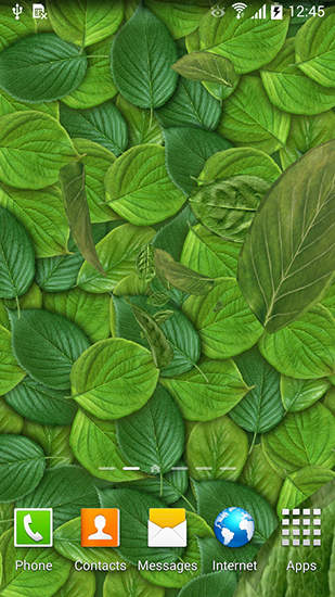Screenshots of the Leaves 3D for Android tablet, phone.