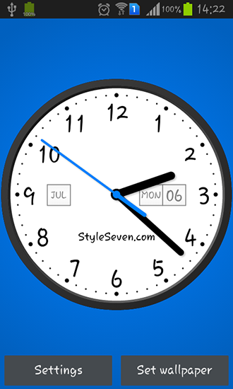 Light analog clock