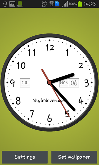 Download livewallpaper Light analog clock for Android. Get full version of Android apk livewallpaper Light analog clock for tablet and phone.