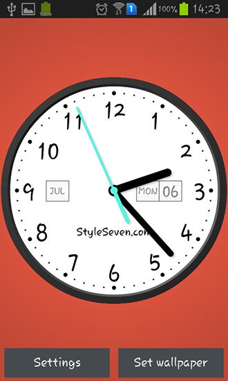 Androidで待ち受け画面上に時計を表示する方法を …