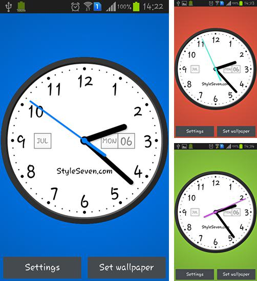 In addition to live wallpaper Poly Island for Android phones and tablets, you can also download Light analog clock for free.