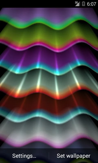 Screenshots of the Light wave for Android tablet, phone.