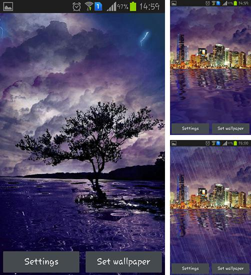 In addition to live wallpaper Galaxy by Wasabi for Android phones and tablets, you can also download Lightning for free.