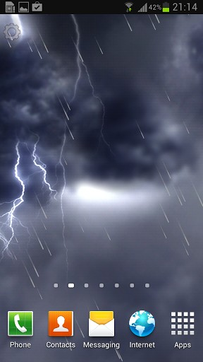 Lightning storm live wallpaper for Android. Lightning storm free download for tablet and phone.