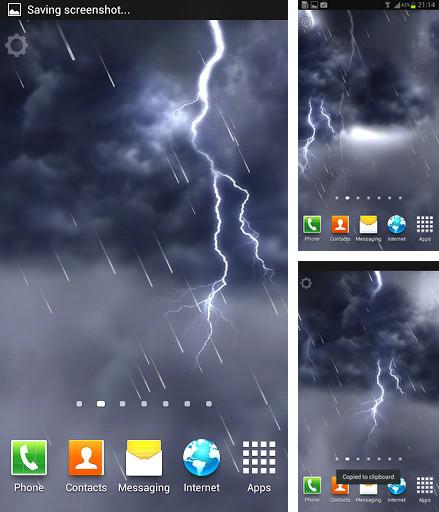 Download live wallpaper Lightning storm for Android. Get full version of Android apk livewallpaper Lightning storm for tablet and phone.