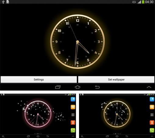 In addition to live wallpaper Playful pugs for Android phones and tablets, you can also download Live clock for free.