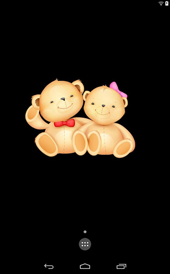 Screenshots of the Live teddy bears for Android tablet, phone.
