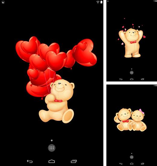 In addition to live wallpaper Juice for Android phones and tablets, you can also download Live teddy bears for free.