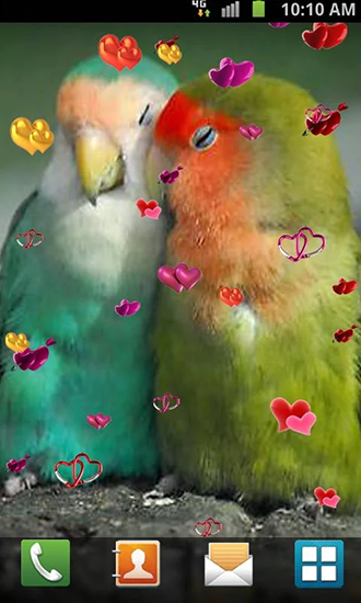 Screenshots of the Love: Birds for Android tablet, phone.
