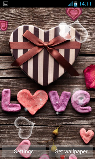 Love hearts live wallpaper for Android. Love hearts free download for tablet and phone.