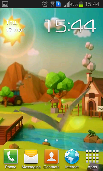 Download livewallpaper Low poly farm for Android. Get full version of Android apk livewallpaper Low poly farm for tablet and phone.
