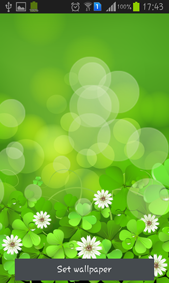 Download livewallpaper Lucky clover for Android. Get full version of Android apk livewallpaper Lucky clover for tablet and phone.