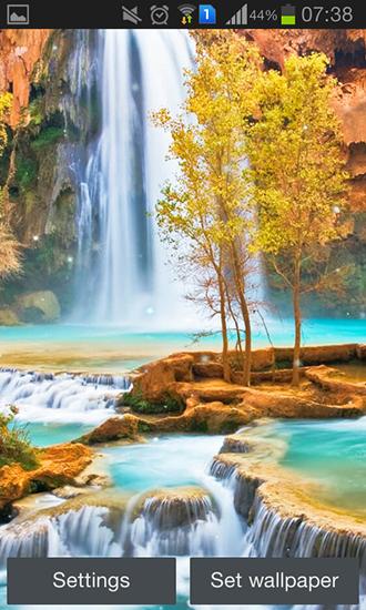 Magic waterfall pour Android à télécharger gratuitement. Fond d'écran animé Cascade magique sous ...