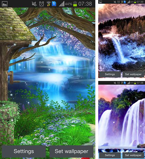 In addition to live wallpaper Star light for Android phones and tablets, you can also download Magic waterfall for free.