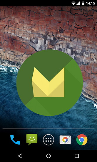 Screenshots of the Marshmallow 3D for Android tablet, phone.