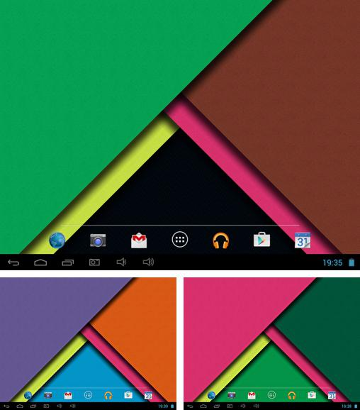 In addition to live wallpaper Rainbow colors for Android phones and tablets, you can also download Material design 3D for free.