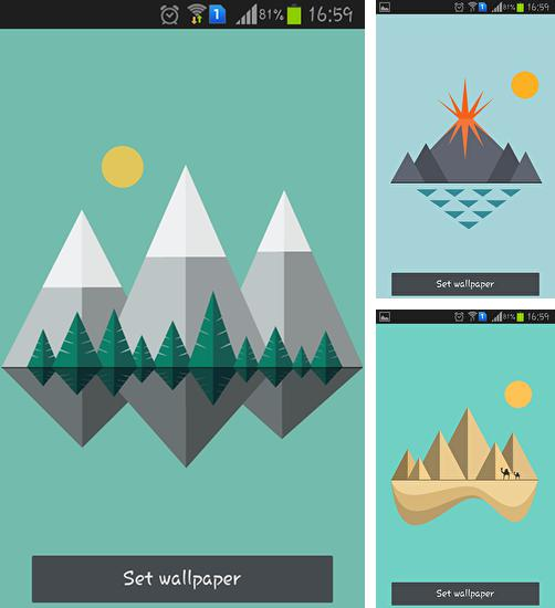 In addition to live wallpaper Ghosts for Android phones and tablets, you can also download Material islands for free.