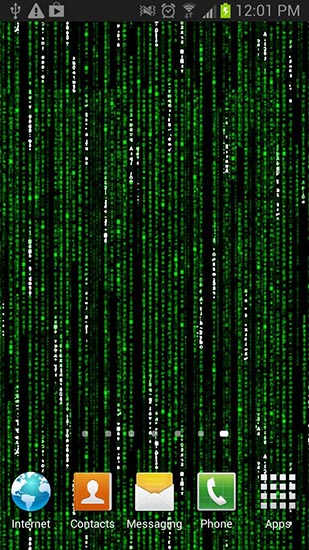 Fondo de pantalla matrix con movimiento gratis