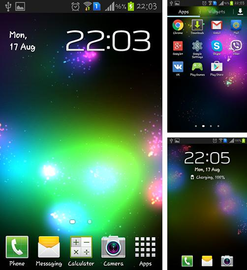 In addition to live wallpaper Sweetheart for Android phones and tablets, you can also download Mega particles for free.