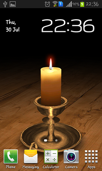 Melting candle 3D
