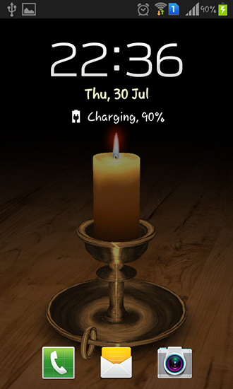Screenshots of the Melting candle 3D for Android tablet, phone.