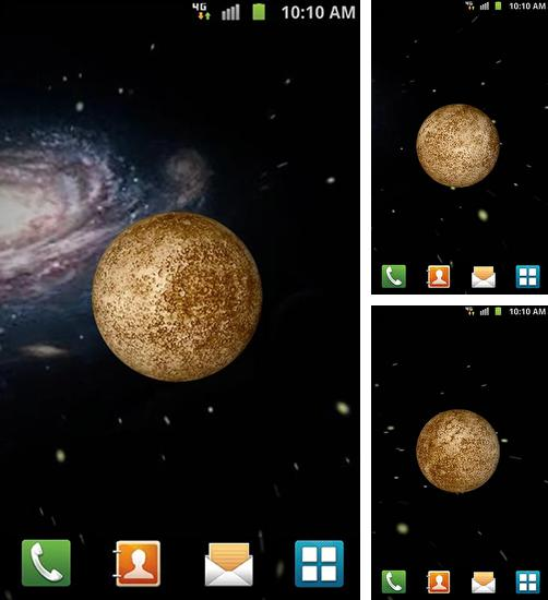 In addition to live wallpaper Symphony of colors for Android phones and tablets, you can also download Mercury 3D for free.