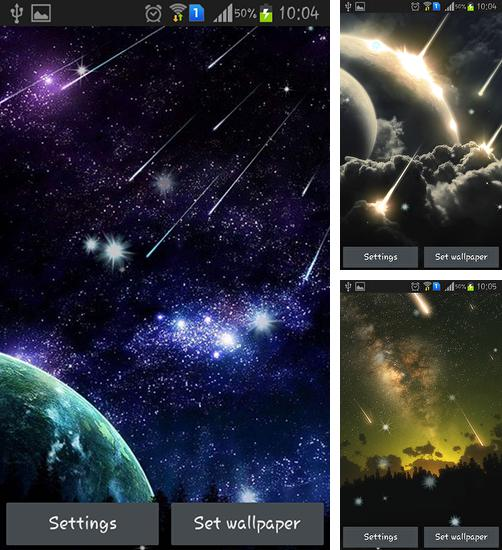 In addition to live wallpaper Fireworks by live wallpaper HongKong for Android phones and tablets, you can also download Meteor for free.