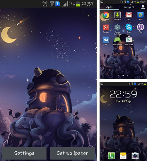 In addition to live wallpaper Winter snow clock for Android phones and tablets, you can also download Meteor shower for free.