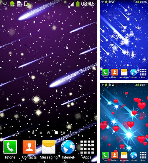 In addition to live wallpaper Cat HD by TeamStoS for Android phones and tablets, you can also download Meteor shower by Live wallpapers free for free.